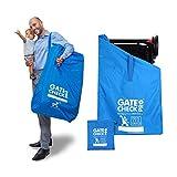 Silla Gemelar XL Gate Check PRO | Bolso de viaje para cochecito y silla | Nailon balístico ultrarresistente | Sistema de viaje con mochila de asas acolchadas (fabricado x la mejor marca especializada)