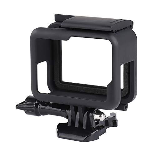 QIMEI-SHOP Custodia Protettiva Compatibile con GoPro Hero 7/6/5/(2018) Black Action Cameras Telaio Case con Zoccolo Attacco Rapido e Vite