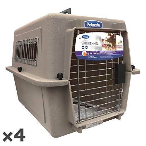 ペットメイト ウルトラ バリケンネル 15lbs (6.8kg) S トープ 犬猫用 ×4入