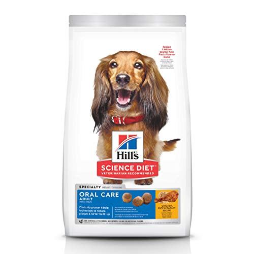 Hill's Science Diet Dry Dog Food, Adult, Oral Care, Chicken, Rice & Barley Recipe, 4 lb Bag