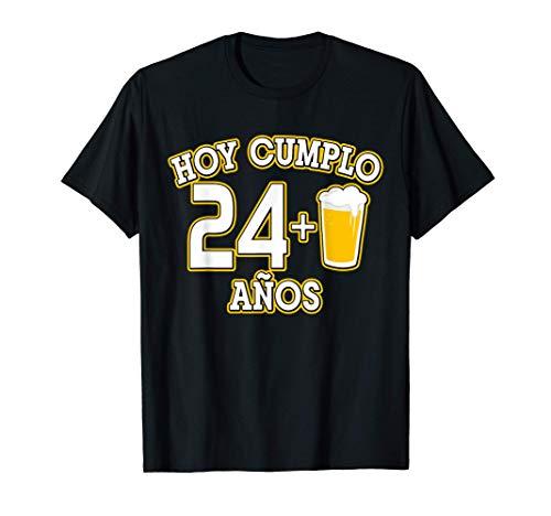 25 Años Regalo Cumpleaños 25 Hoy Cumplo 24+1 caña Camiset