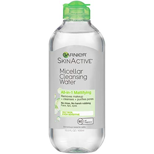 Garnier SkinActive Micellar Cleansing Water, All-in-1 Makeup Remover and Facial Cleanser, For Oily Skin, 13.5 fl oz