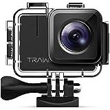 APEMAN TRAWO Action Cam A100, Nativo 4K/50FPS 20MP WiFi Impermeabile 40M Fotocamera Subacquea Digitale, Avanzato Sensore Super EIS Stabilizzata Videocamera, 2\\ IPS Screen con 2 1350mAh Batterie