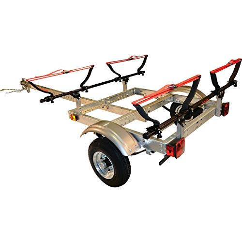 3. Malone XtraLight Trailer Package with 2 V-Kayak Racks