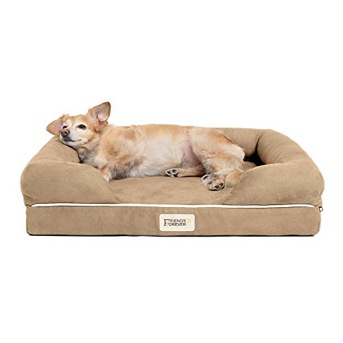 Friends Forever Orthopedic Dog Bed Lounge Sofa Removable Cover...