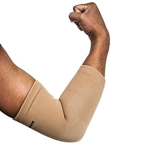 Senston 1 Stück Ellenbogenbandage - Atmungsaktiv/Schweiß absorbent/Beste Schutz für Ellenbogen - Ellbogenschützer Elbow Support Arm Sleeve Kompression Armstulpe