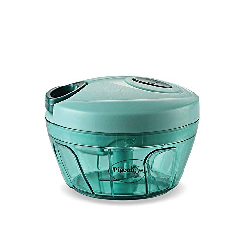 Pigeon Plastic Mini Handy and Compact Chopper with 3 Blades for Effortlessly Chopping Vegetables and...