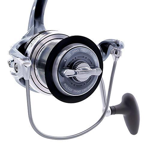 TICA Galant Long Cast, Gbat 8000 Mulinello da Pesca, Grigio Metallizzato, Gear Ratio 4.1