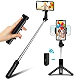 Bovon Perche Selfie, Mini Trepied Smartphone Extensible Selfie Stick...