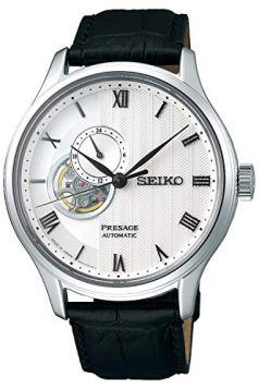 Seiko presage Mens Analog Automatic Watch with Leather Bracelet SSA379J1