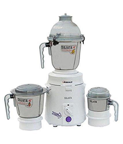 Sujata Dynamix, Mixer Grinder, 900 Watts, 3 Jars (White)