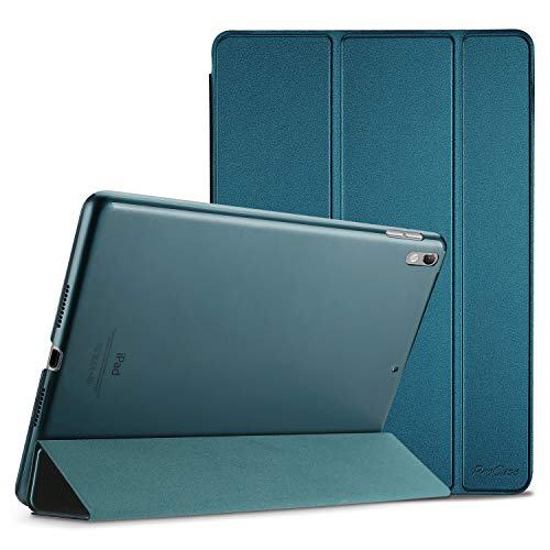 ProCase iPad Air (3rd Gen) 10.5' 2019 / iPad Pro 10.5' 2017 Case, Ultra Slim Lightweight Stand Smart Case Shell with Translucent Frosted Back Cover for Apple iPad Air (3rd Gen) 10.5' 2019 –Teal