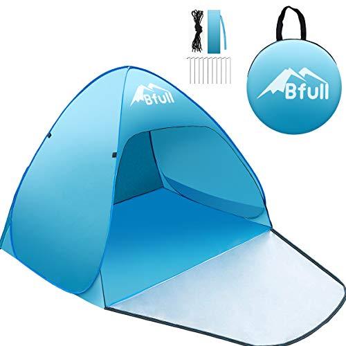 Bfull strandtent | Automatische pop-up tent | Voor 2 of 3 personen | Met UV-bescherming | Inclusief bijgeleverde draagtas