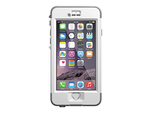 LifeProof ND iPhone 6 ONLY Waterproof Case (4.7' Version) - Retail Packaging - AVALANCHE (BRIGHT WHITE/COOL GREY)