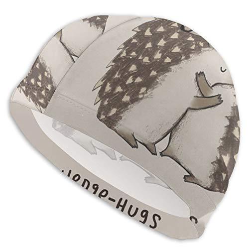 Bandcey Swim Caps for Men & Womens Long Hair - Hedgehogs Hugs Pattern...