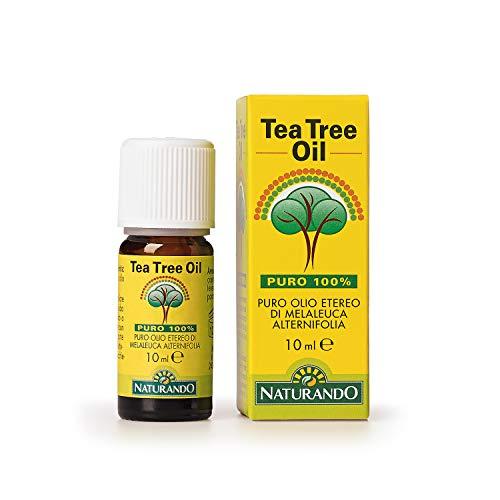 Naturando Tea Tree Oil 10 ML Puro Olio Etereo 100% di Melaleuca Alternifolia
