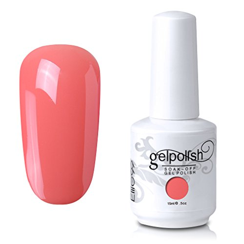Elite99 Gel Nail Polish Soak Off UV LED Gel Lacquer Nail Art Manicure 121 Coral 15ml