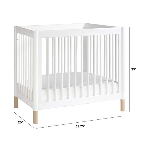 Product Image 5: Babyletto Gelato 4-in-1 Convertible Mini Crib in White / Washed Natural, Greenguard Gold Certified