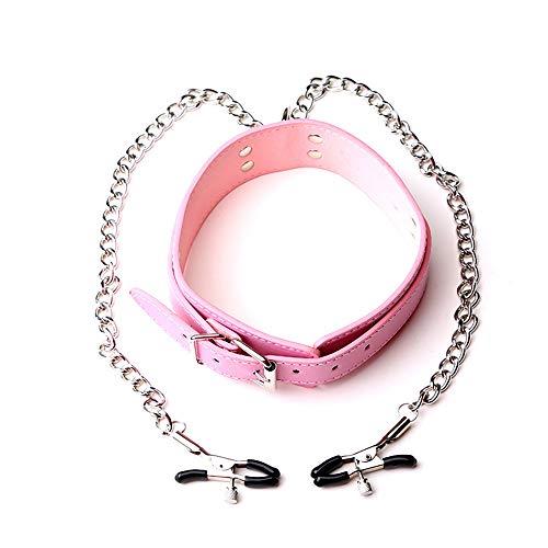 Comboo Metallkette Verstellbaren Kragen Frauen Familie Sport Clip Spielzeug (schwarz, Rosa, Rot)(Pink)