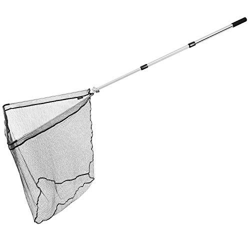 ARAPAIMA FISHING EQUIPMENT Retino da Pesca telescopico 'Sturdy' | Guadino per Pesca Pieghevole, Estensibile e gommata | incl. Borsa per Rete da Pesca | Argento - 250 cm