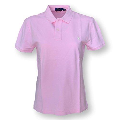 Polo Ralph Lauren Women's Classic Fit Mesh Polo Shirt (Medium, Light Pink)