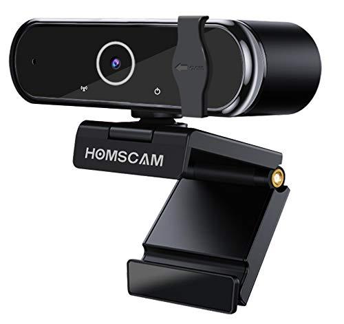 Cámara Web, HOMSCAM Webcam Enfoque Automático con Micrófono...