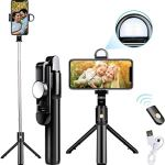 tuw Bluetooth Extendable Selfie Stick with...