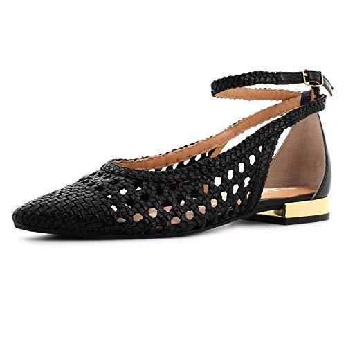 Gioseppo DELL, Zapatos Tipo Ballet Mujer, Negro, 39 EU