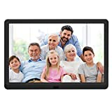 10 inch Digital Picture Frame with 1920x1080 IPS Screen Digital Photo Frame Adjustable Brightness, Photo Deletion, Timing Power On/Off, Background Music Support 1080P Video