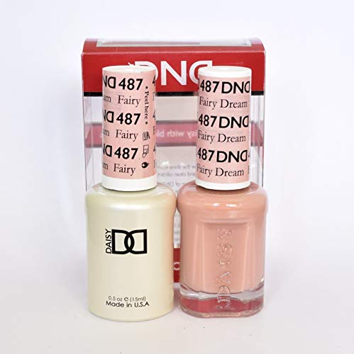 DND DAISY DUO (GEL POLISH & MATCHING NAIL LACQUER) - 487 - FAIRY DREAM 15ML BOTTLES by DND
