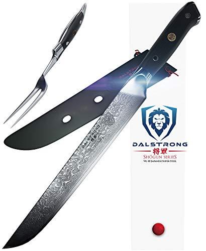 DALSTRONG Carving Knife & Fork Set - Shogun Series -9' - AUS-10V - Sheath