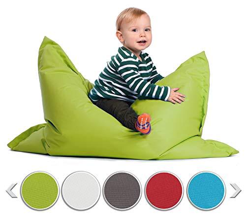 sunnypillow S Sitzsack, Outdoor & Indoor 100 x 70 cm mit 60L Styropor Füllung Sessel für Kinder & Erwachsene Sitzkissen Sofa Beanbag viele Farben und Größen zur Auswahl Grün