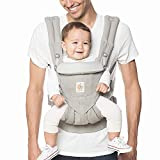 Ergobaby Omni 360 All-Position Baby Carrier for Newborn to Toddler with Lumbar Support (7-45 Pounds), Pearl Grey