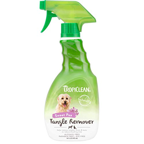 TropiClean Sweet Pea Tangle Remover Spray for Pets, 16oz - Made in USA...
