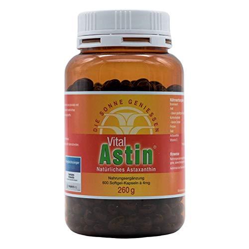 VitalAstin Astaxanthin 600 Kapseln I Das Original - Ivarssons VitalAstin mit 4 mg natürlichem Astaxanthin I Zellschutz I versandkostenfrei