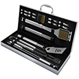 Home-Complete BBQ Grill Tool Set- 16 Piece Stainless Steel Barbecue...