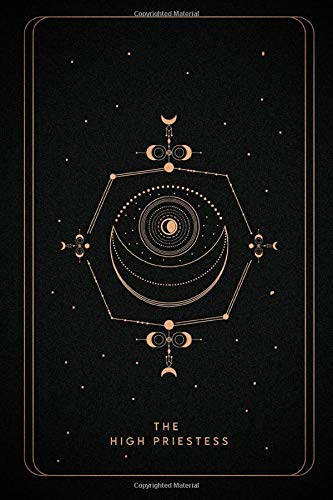 The High Priestess: The High Priestess tarot notebook ,...