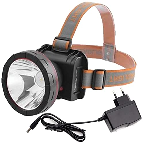 BALIRAJA Upto 1000 m (1 km) Range Rechargeable Head Torch with Lithium-ion Battery for Farmers,...