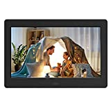 Digital Photo Frame with IPS Screen - Digital Picture Frame with 1080P Video, Music, Photo, Auto Rotate, Slide Show, Remote Control, Calendar, Time,1280x800 16:9 (7 Inch Black)