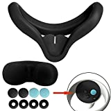 Wehhbtye Silicone Face Pad Cover Kit for Oculus Quest 2 - VR Face Silicone Cover Mask Kit, VR Silicone Interfacial Cover Kit for Oculus Quest 2 Replacement Face Pads(Black,6 In Total)