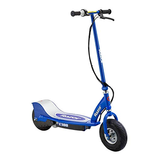 Razor E300 Durable Adult & Teen Ride-On 24V Motorized High-Torque Power Electric Scooter, Speeds up to 15 MPH with Brakes and 9' Pneumatic Tires, Blue