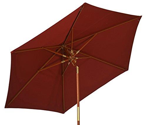 Kai Wiechmann Sonnenschirm Sunshine ø 240 cm, rot, UV-Schutz 50+ ✓ kippbar ✓ Windauslass ✓