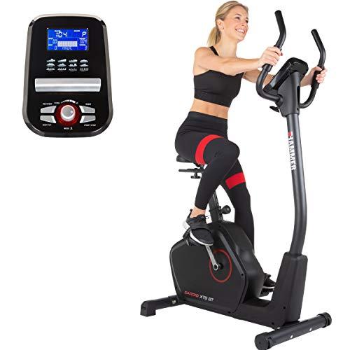 HAMMER Ergometer Cardio XT6 BT, leises Fitnessfahrrad mit tiefem Einstieg und Comfort-Sattel, 13 kg...