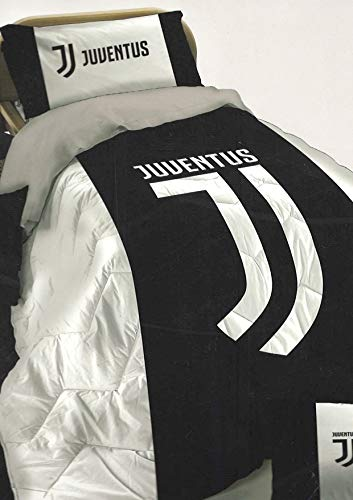 Juventus Trapunta in Morbida Microfibra per Letto Singolo Nuovo Logo Juve - CM 170 X 260 -