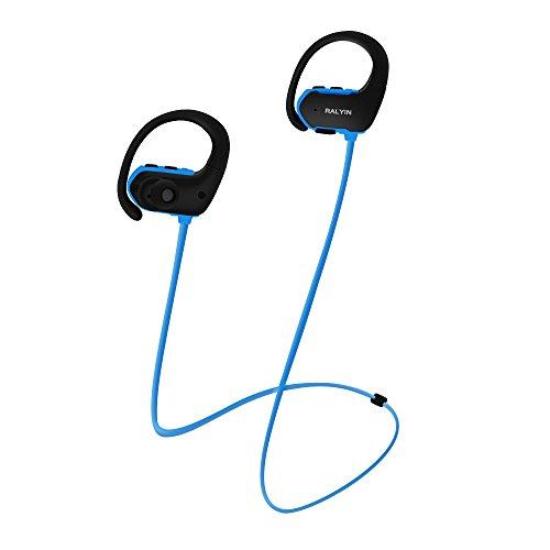 MP3 Headphones Built in 8GB TF Card Memory Storage,Ralyin Bluetooth Earbuds with Microphone Wireless Headphones for Working Sport Audifonos Sweatproof Cordless Earphones w mic Headset Audiobook (blue)