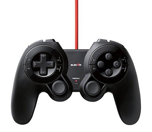 エレコム ゲームパッド  USB 24ボタン MMO向け ブラック JC-DUX60BK