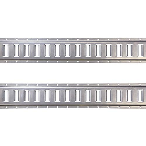 US Cargo Control Horizontal E Track - 5 Foot Length Cargo E Track - Galvanized Finish - 12 Gauge Steel - Easily Secure Cargo in an Enclosed Van Trailer - 2 Pack