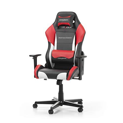 DXRacer (l'original) Drifting D61 Chaise de Bureau, Similicuir, Noir & Blanc & Rouge,...
