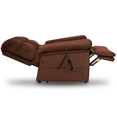 Perfect Sleep Chair - Lift Chair & Medical Recliner – DuraLux II Microfiber - Chocolate (Brown)