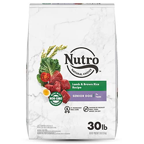 NUTRO NATURAL CHOICE Senior Dry Dog Food, Lamb &...